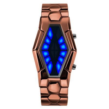 艾米娅 时刻美时尚潮流电子表男 个性创意LED防水手表学生新概念熔岩腕表