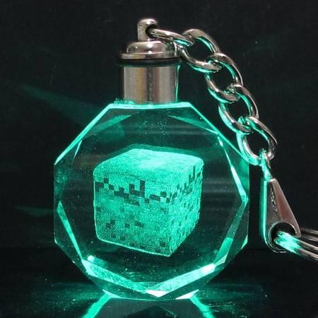 艾米娅 包邮 我的世界苦力怕JJ怪MINECRAFT周边LED灯光钥匙扣礼盒装挂件