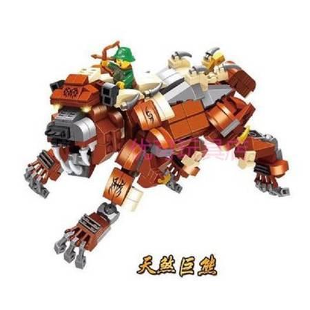 艾米娅 新品男孩益智拼装组装魔兽世界幻影忍者飞龙人偶积木玩具6-8-10岁