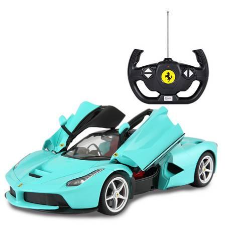 艾米娅 【收藏款】usb充电星辉法拉利遥控车可开门遥控汽车赛车儿童玩具