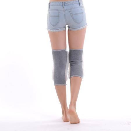 艾米娅 羊毛护膝保暖老寒腿 皮毛一体老年人加厚男女士秋冬季骑车膝盖