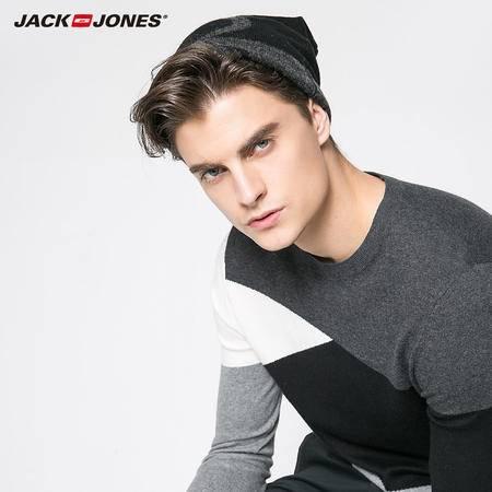 艾米娅 JackJones杰克琼斯男冬羊毛套头字母针织护耳包头帽C|216386502
