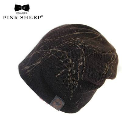 艾米娅 毛线帽 男士女士户外运动棉帽 冬季冬天保暖情侣韩版加绒针织帽子