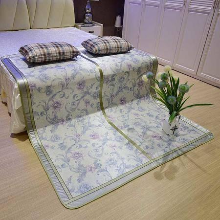 板桥 夏季冰丝凉席印花席草席双人席双面可折叠式1.5m包邮