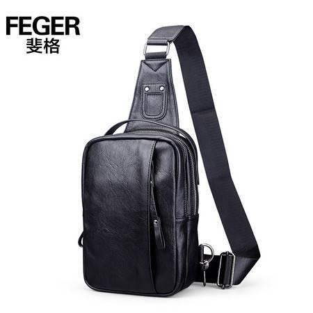斐格/FEGER 男士韩版潮斜挎包包休闲背包皮包多功能腰包单肩包男包