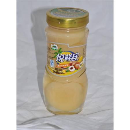 悦鲜庄 糖水白桃罐头480g*12