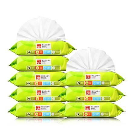 好孩子/gb 好孩子 婴儿卫生湿纸巾 橄榄滋养 80片*8包