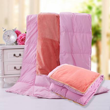 三祥 多功能鸭绒汽车抱枕 靠垫 沙发毯 空调被 膝毯