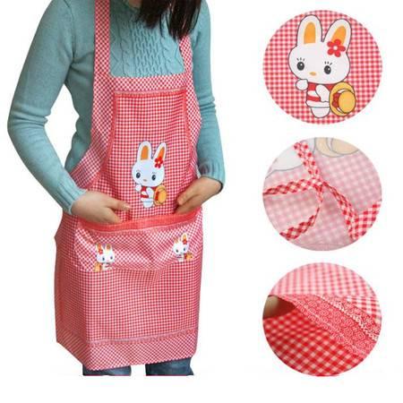 【大鱼】1615可爱兔格子围裙