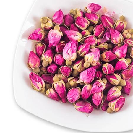 万味生 平阴玫瑰花茶 干红玫瑰花草茶罐装瓶装50g花茶