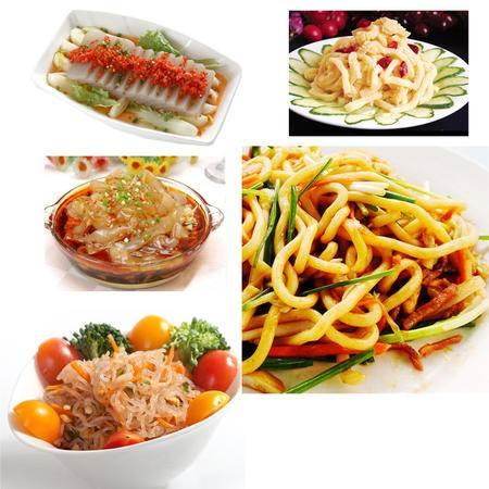 魔芋制品优惠套餐 天然有机食品 火锅食材 魔芋速食系列产品,内含魔芋粉丝、魔芋面皮、魔芋丝结、魔芋豆