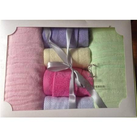 竹纤维浴巾毛巾六件套