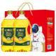 长寿花 金胚玉米油1.8L*2瓶装礼盒 食用油 清淡烘焙 新鲜好油