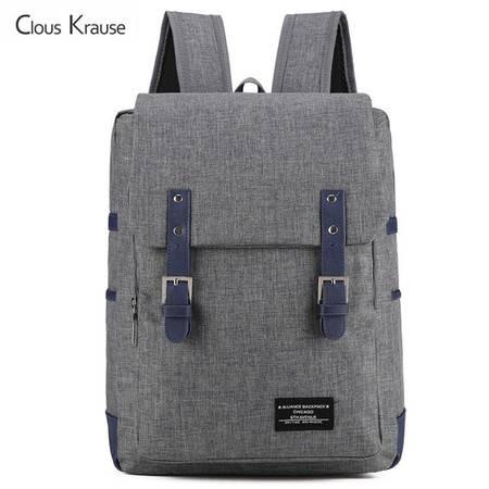 ClousKrause轻便简约休闲旅行双肩包CK-0801 蓝色、灰色 双色可选