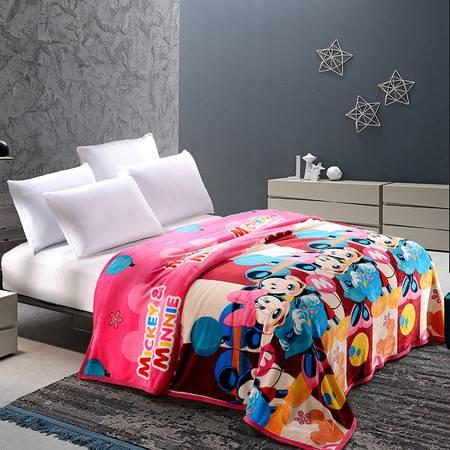 迪士尼/DISNEY  米妮欢乐法莱绒毯DSN16-TZ051  印花午睡毯 柔软舒适 750g