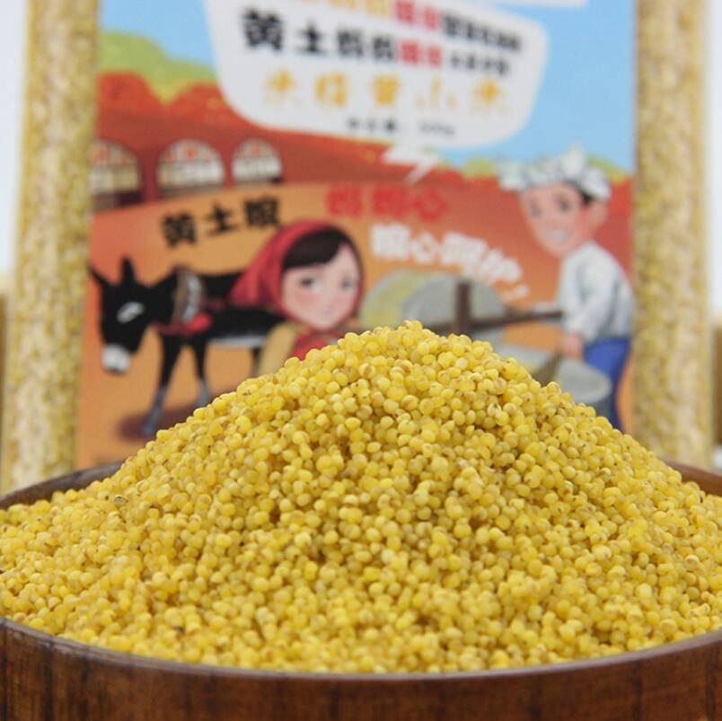 黄土妈妈 优质袋装米脂小米 五谷杂粮黄小米 500g*5袋装
