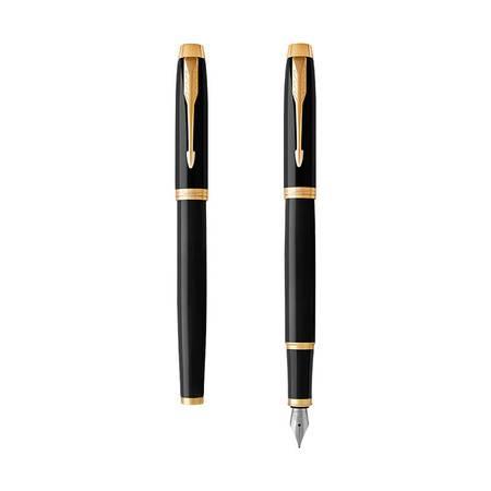 派克(PARKER)钢笔 IM纯黑丽雅金夹钢笔墨水笔