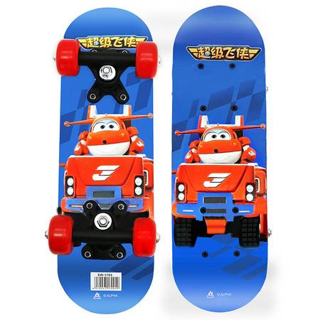 超级飞侠儿童滑板迷你四轮双翘板滑板车小鱼板 SW-1705