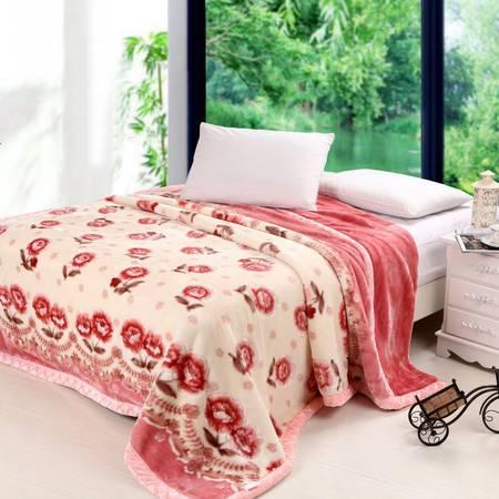 瀚庭-粉色记忆拉舍尔毛毯